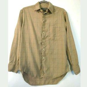 Banana Republic men's shirt Wool blend Beige plaid
